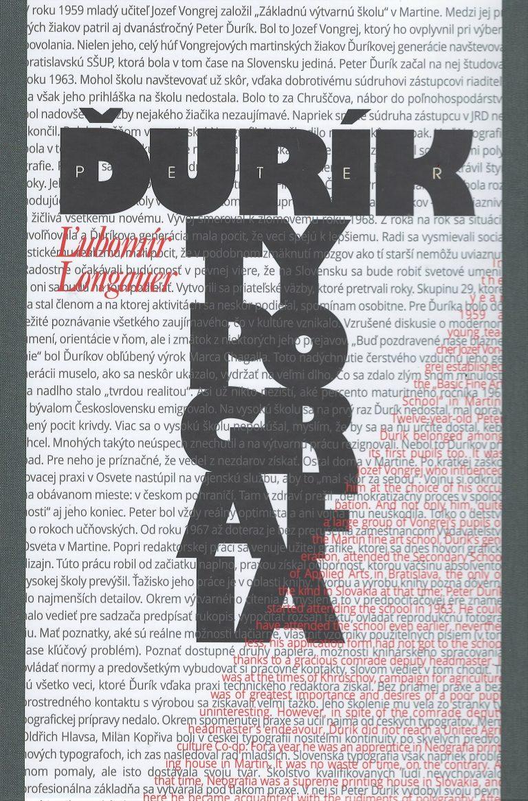Peter Ďurík. Typografia