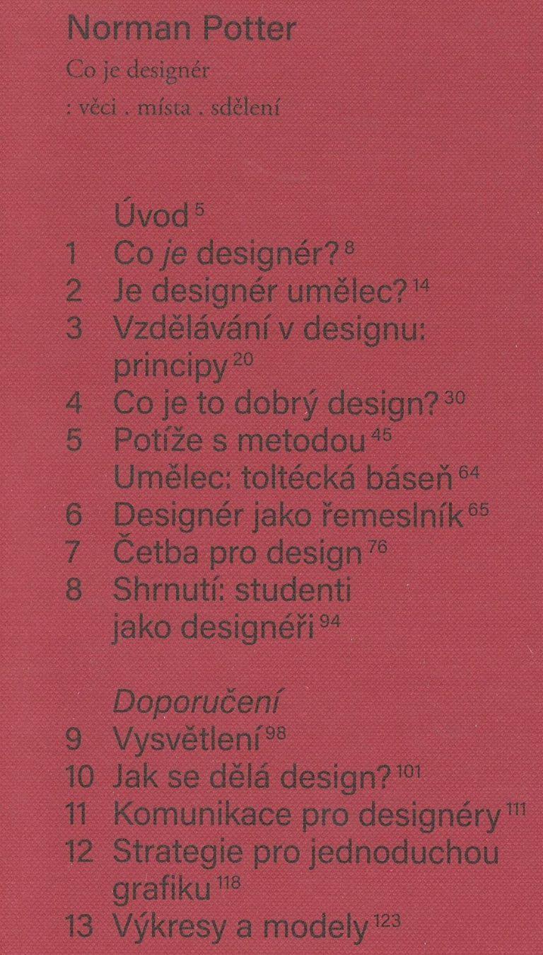 Co je designér – věci, místa, sdělení