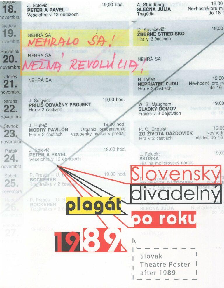 Slovenský divadelný plagát po roku 1989 – šiesty zmysel divadla – Sixth ssnse of theatre