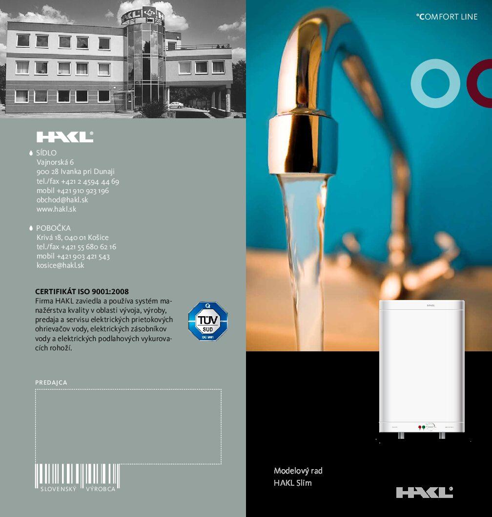 Ohrievač vody - Slim
