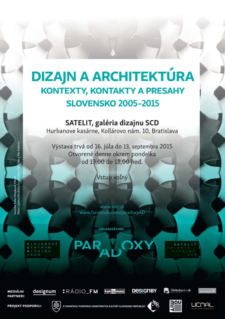 Dizajn a architektúra. Kontexty, kontakty a presahy. Slovensko 2005-2015
