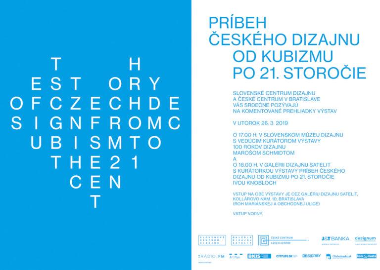 Komentované prehliadky – 100 rokov dizajnu na Slovensku a v Čechách a Príbeh českého dizajnu