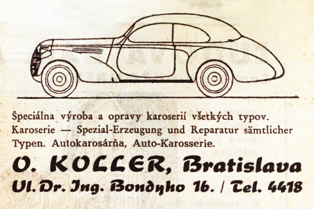 Dobový propagačný inzerát, 1935.