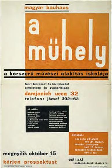Sándor Bortnyik: Mühely – maďarský Bauhaus, 1928.