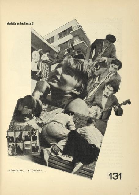 Časopis ReD, strana z čísla venovaného Bauhausu, 1930.