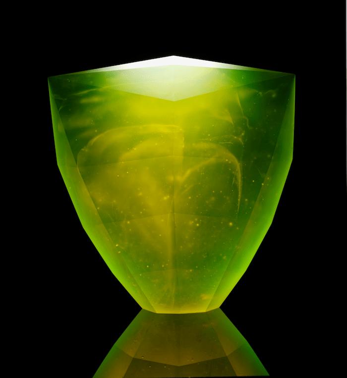 Samuraj.Uránové sklo, 2012. Foto: Jaroslav Kvíz