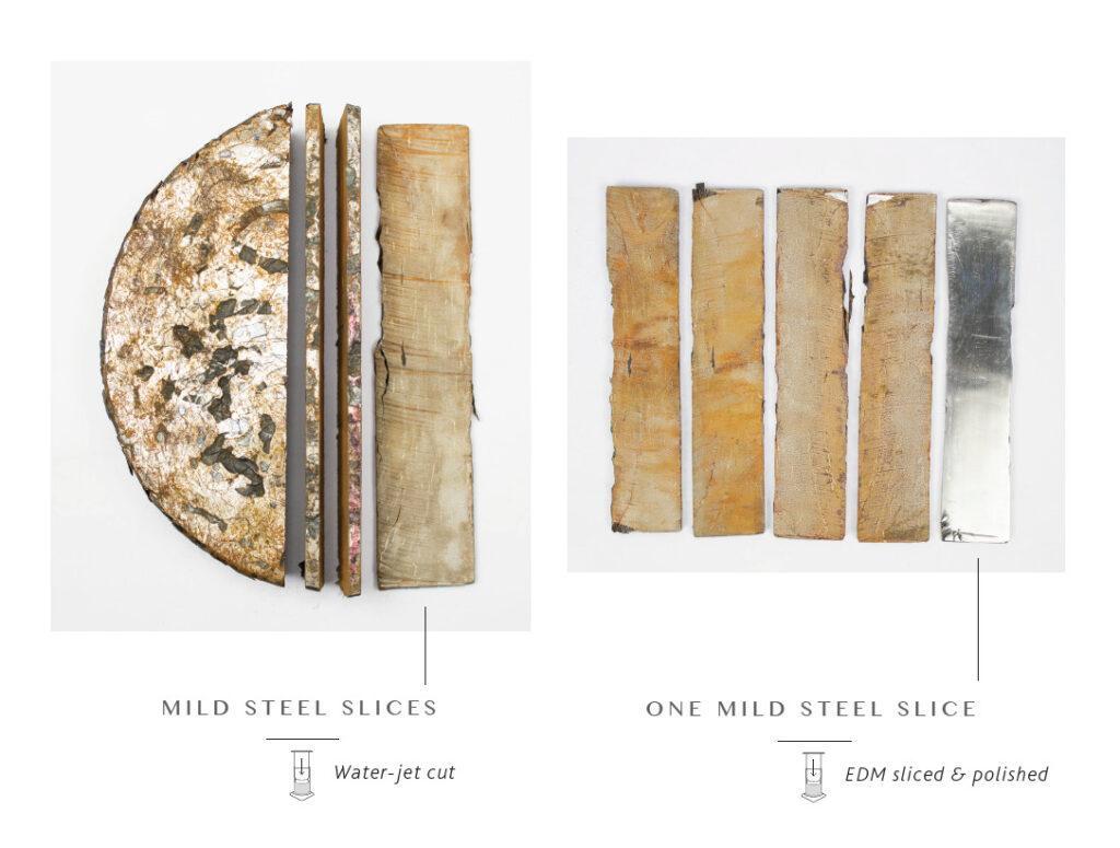 Stlačené oceľové hobliny a ich proces transformácie na pevný materiál bez nutnosti opätovného roztavenia, 2016.
