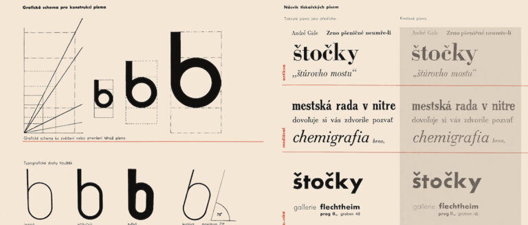 Předlohy pro odborné kreslení typografické. Učebnica modernej typografie od Zdeňka Rossmanna
