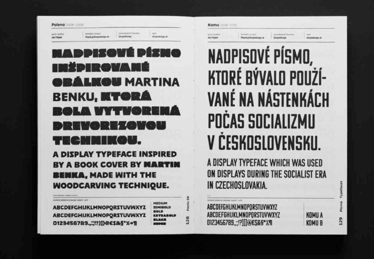 Fonts SK. DIZAJN DIGITALIZOVANÉHO PÍSMA NA SLOVENSKU / DIGITIZED TYPE DESIGN IN SLOVAKIA.
