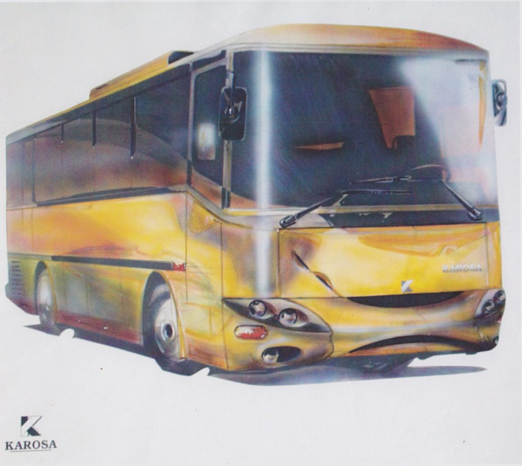 Karosa – dizajn autobusu, návrh, 1997. Foto archív SMD