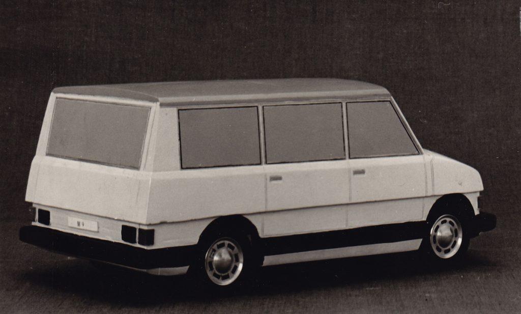 Štúdie dodávkových automobilov, fotografie. BAZ, 1974. Foto archív SMD