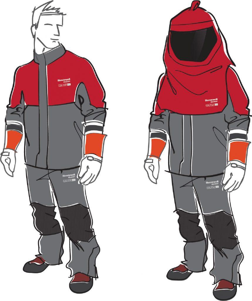 Jana Bačinská: Skice ochranného oblečenia proti zásahuelektrickým oblúkom, HONEYWELL Salisbury Pro-WearTM, 2019