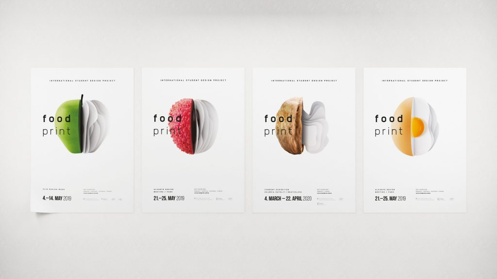 Medzinárodná študentská výstava Foodprint - vizuálna identita