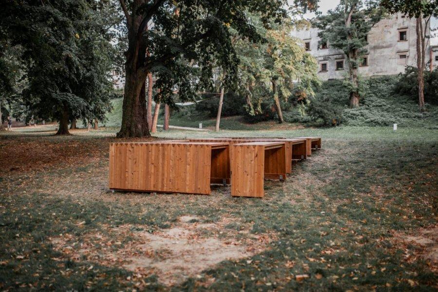 Workshop v Moravanoch nad Váhom, 2019 – konečná realizácia.                   Foto: Katarína Janíčková, archív Woven