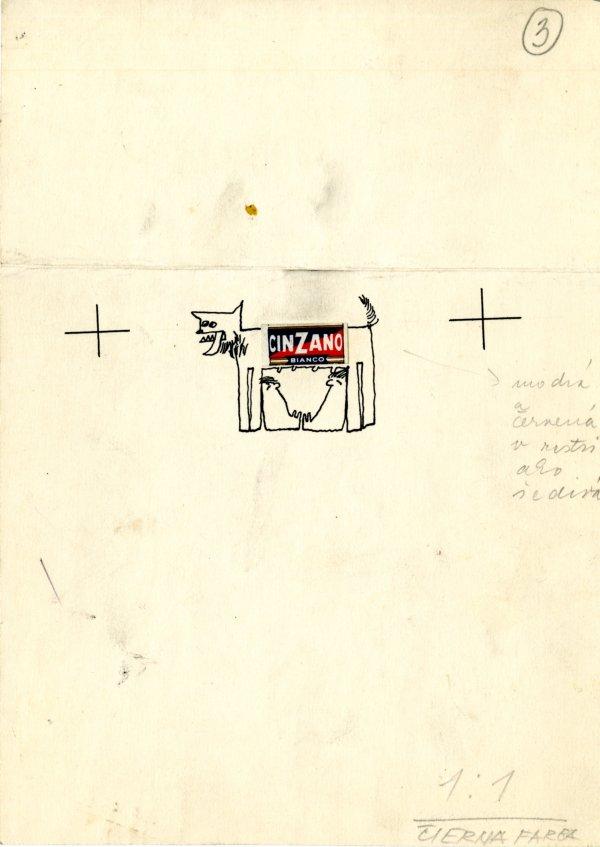 Autorský originál kresby k záložke s knižnou novinkou, 1966