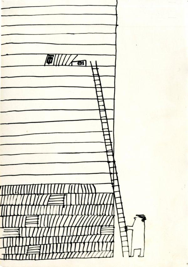 Kresba k vreckovému kalendáru na rok 1965