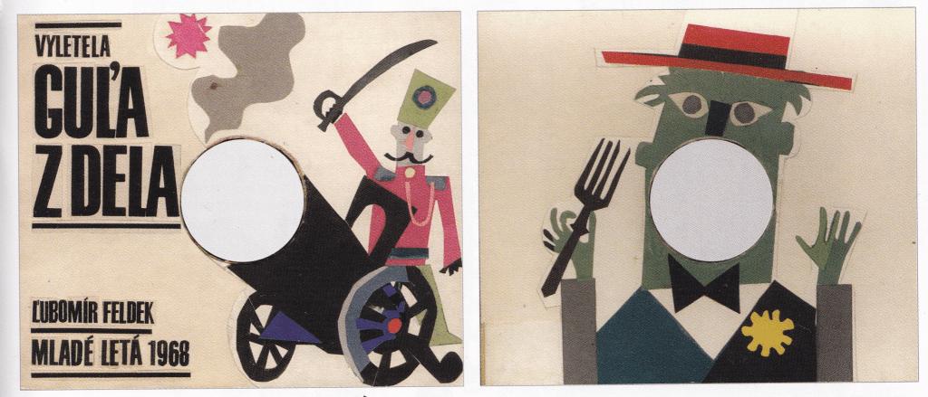 V spolupráci spisovateľa Ľubomíra Feldeka a Miroslava Cipára vznikol nerealizovaný projekt kniha Vyletela guľa z dela (1968). Foto: archív autora