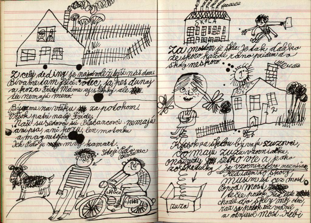 Miroslav Cipár  a grafik Ľubomír Krátky vytvorili nápaditú knihu, ktorá vizuálne spracúva texty Márie Ďuríčkovej o Jožkovi Mrkvičkovi. Kniha Joško Mrkvička spáč vyšla vo vydavateľstve Mladé letá v roku 1972. Foto: archív autora