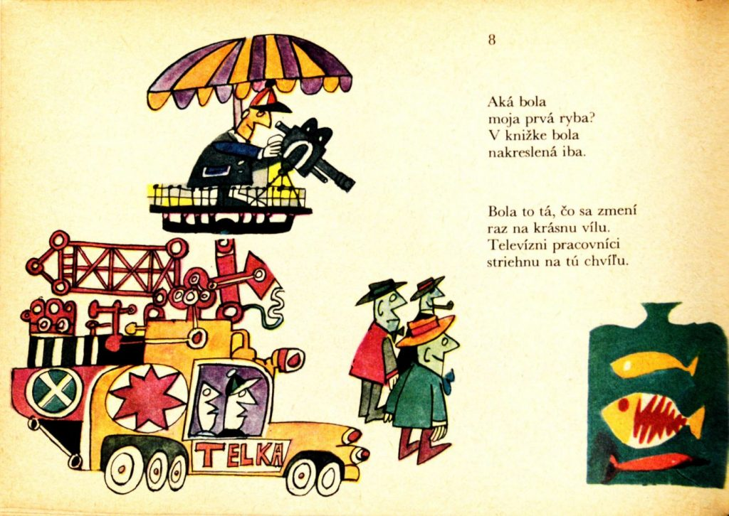 Ilustrácia Miroslava Cipára v detskom časopise Včielka, 1965-66. Foto: archív autora