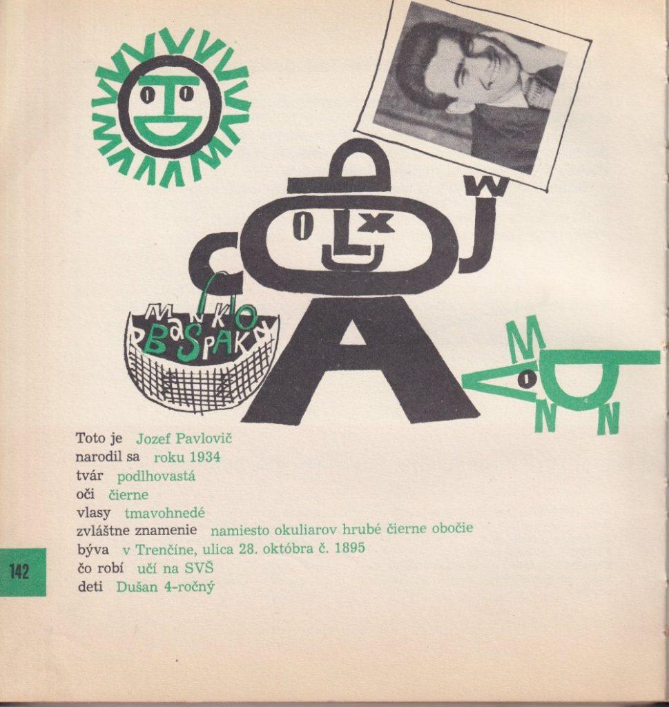 Obálka a typografická ilustrácia ku knihe Veselý rok (Mladé letá 1964). Na výtvarnej podobe knihy sa okrem Miroslava Cipára spolupodieľalo 11 výtvarníkov. Foto: archív autora
