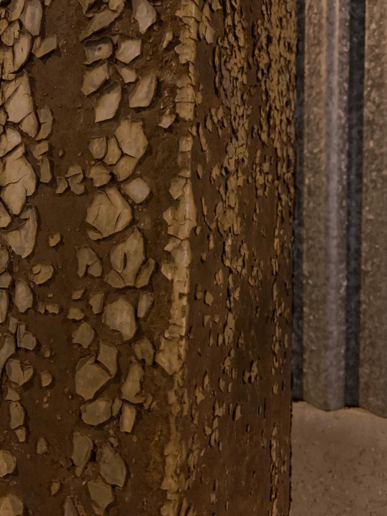 Detail železnej konštrukcie prestrešenia. Foto: Maroš Schmidt