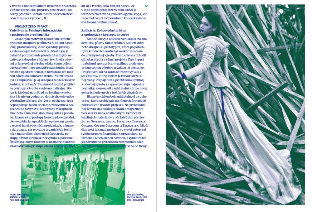 Udržateľný rozvoj v kultúrnej a kreatívnej praxi, Urdžateľná móda od konceptu k výrobe