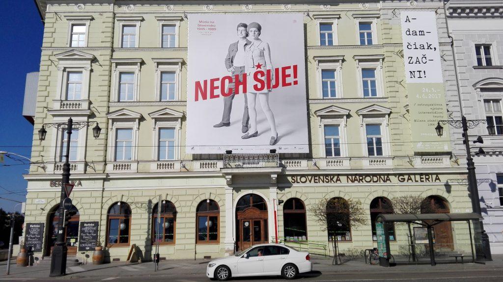 Výstava Nech šije!/Móda na Slovensku 1945 – 1989,  Slovenská národná galéria, apríl – august 2017. Foto: Zuzana Šidlíková