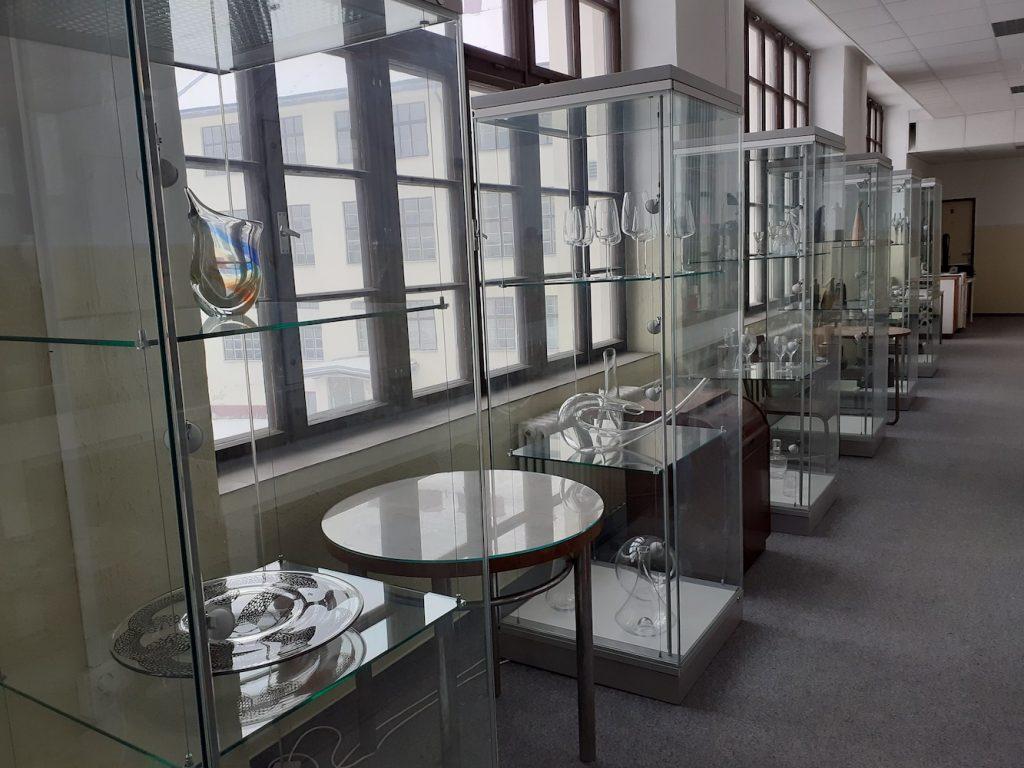 Priestory Slovenského múzea dizajnu – zbierky skla. Február 2021. Foto: Silvia Kružliaková