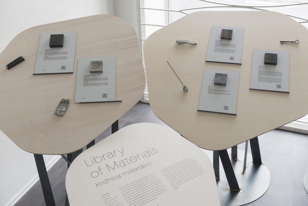Knižnica materiálov SCD, prezentácia v rámci výstavy Human by Design v Satelite, september – október 2019.