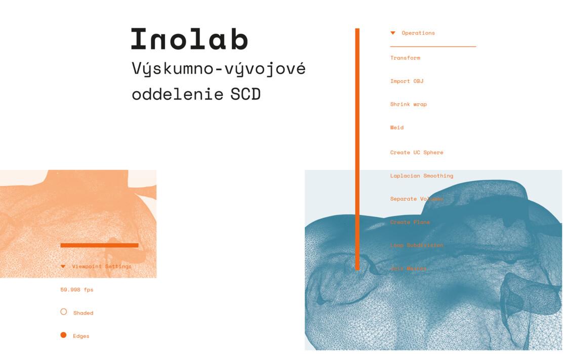 Inolab - Vizuál výskumno-vývojového oddelenia SCD