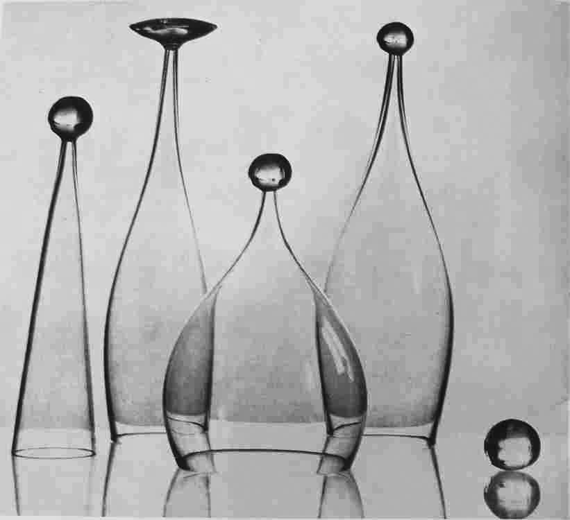 Jaroslav Taraba Plastiky z fúkaného skla, 1962