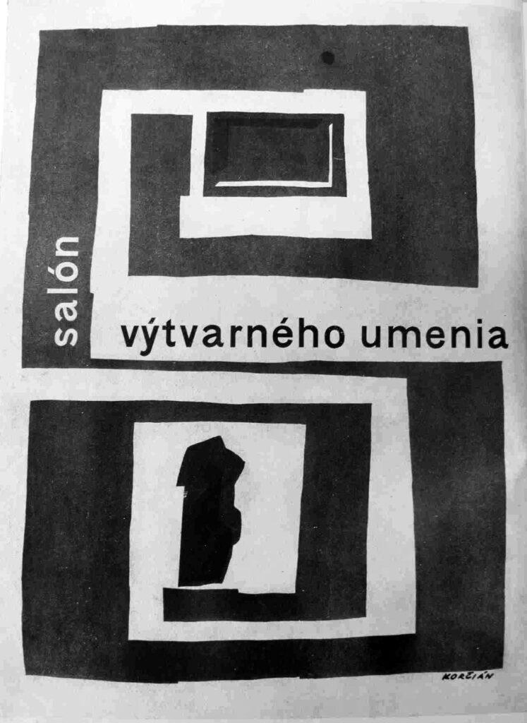 """Miroslav Korčian: Výstavný plagát """"salón"""" 1962"""