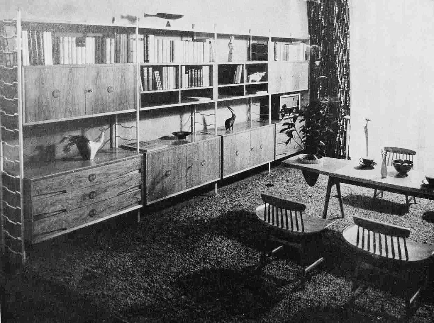 Viktor Holešťák-Holubár Zariadenie obývajacej izby, 1958