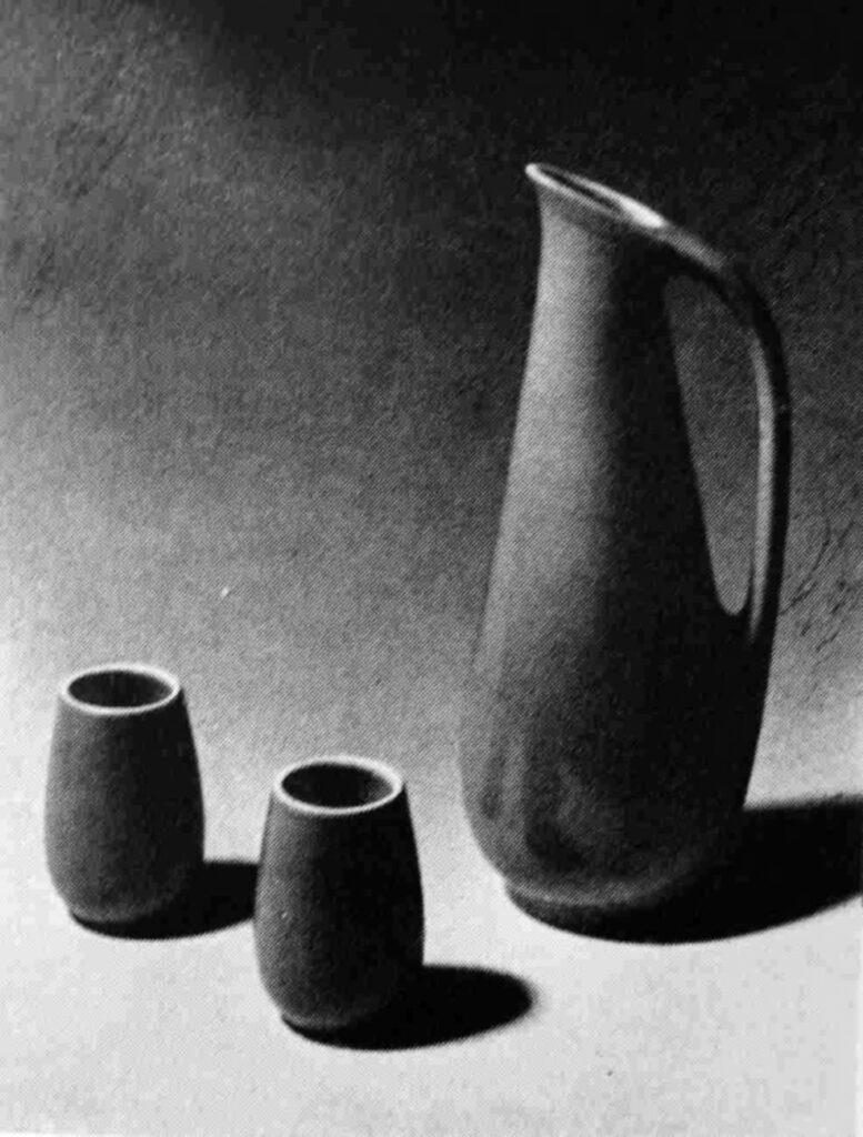 Miloš Balgavý Likérová súprava, Majolika, 1958