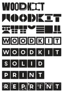 Písmo Woodkit