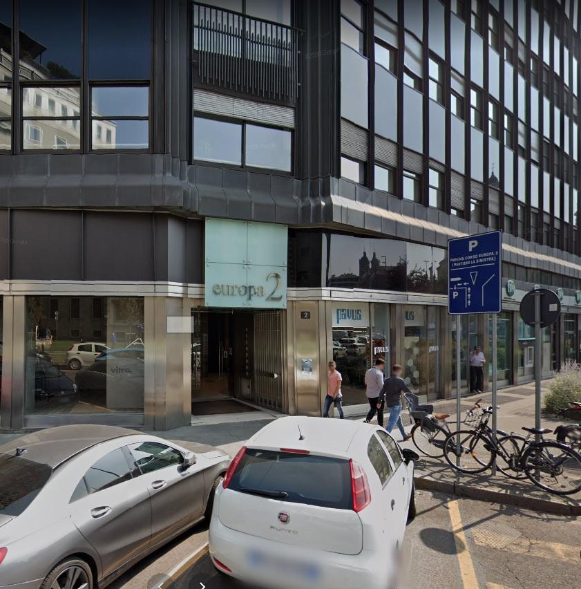 Budova na Corso Europa 2 vsúčasnosti.