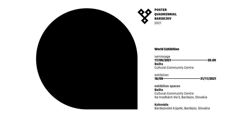 Poster Quadrennial Bardejov 2021 — World Exhibition