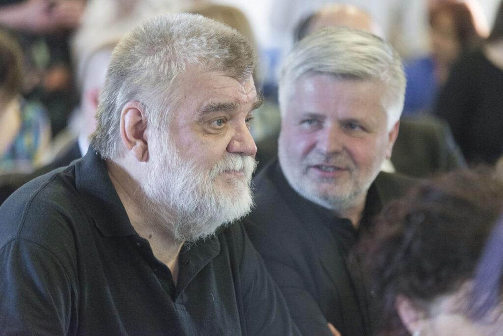Z udeľovania cien NCD 2015. Ľubomír Longauer a Štefan Klein. Foto archív SCD