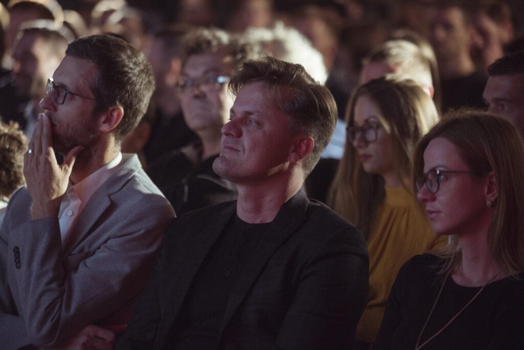 Z udeľovania cien NCD 2019 v bratislavskej Design Factory. Ondrej Gavalda, Jozef Kovalčík. Foto archív SCD