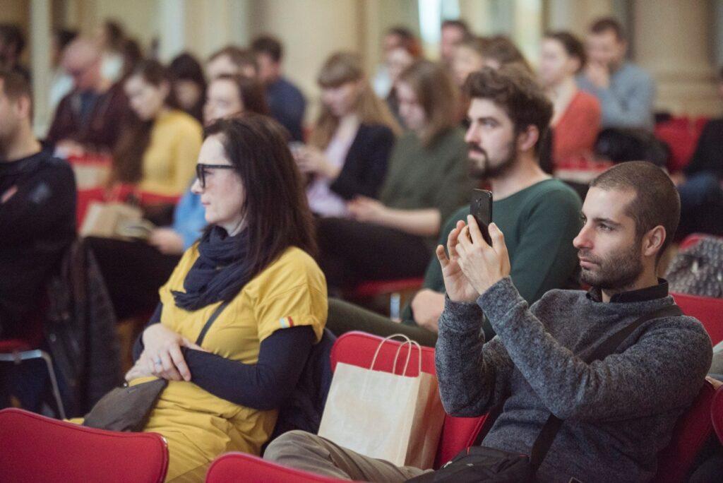 Návštevníci sprievodného programu NCD 2019, konferencia Dizajn a biznis. Foto archív SCD